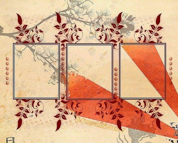 Cr a fond cadre marron - Cadre pour mettre plusieurs photos ...